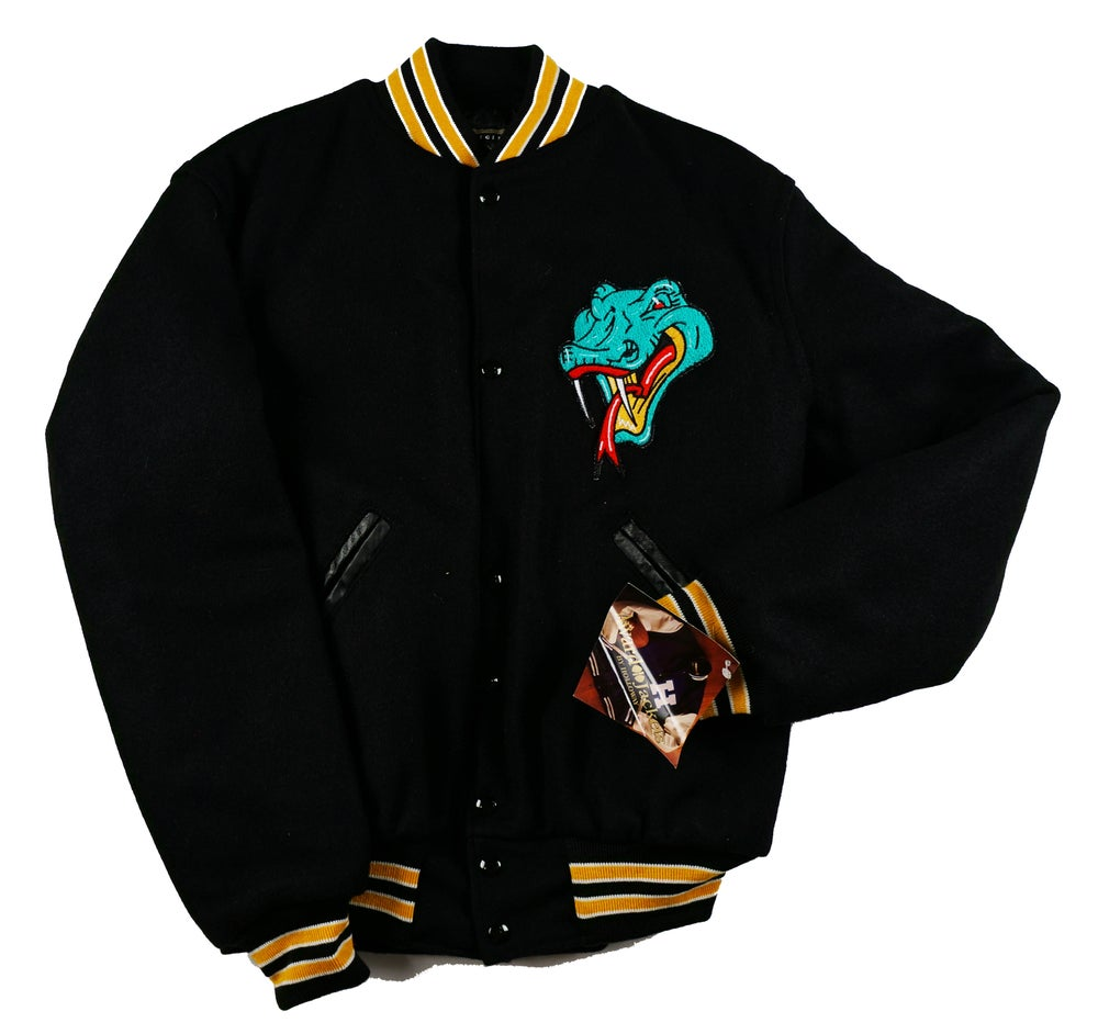 Image of Detroit Vipers Black All Wool Varsity Jacket