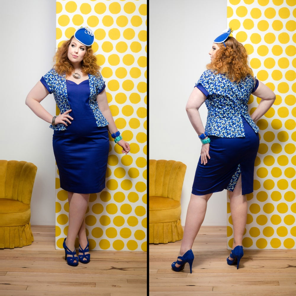 Image of CHARLIE PEPLUM DRESS (other options available)