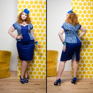 Image of CHARLIE PEPLUM DRESS