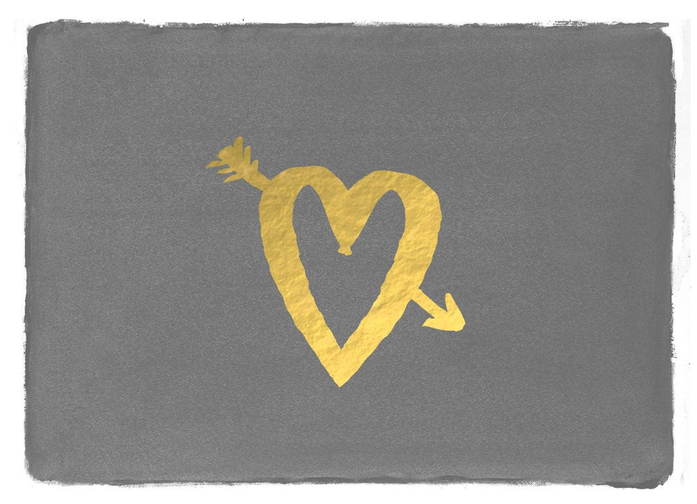 Image of Gold Foil Heart Greeting Card - With Love Co