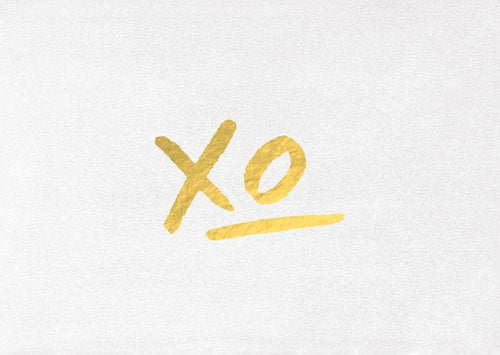 Image of XO Greeting Card - With love Co