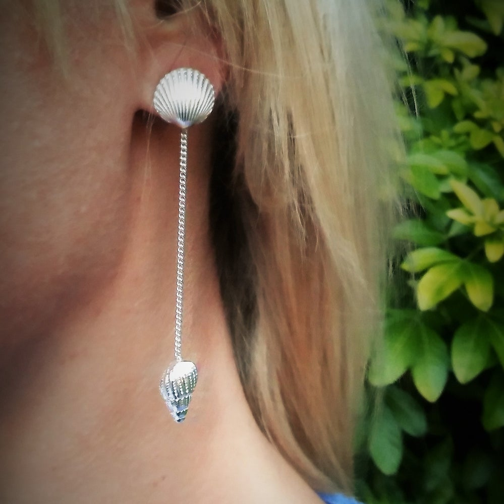 Image of Dorset Shell Dangle Earrings