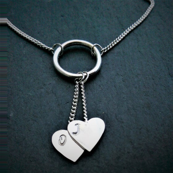 Image of Personalised Love Heart Petite Necklace