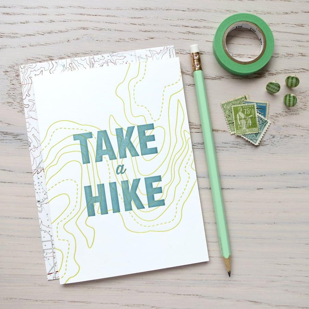 Image of take a hike letterpress card