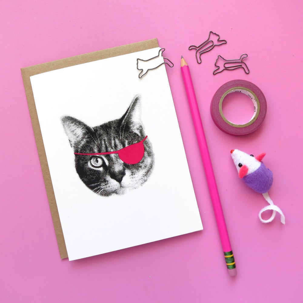 Image of gee whiskers series: pink eyepatch
