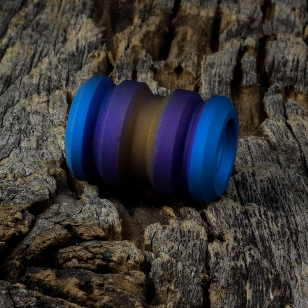 Image of Tank Tri-Color Ti Bead #1