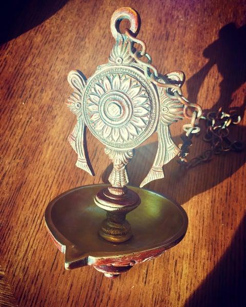 Image of Hanging chakra Diya/lamp