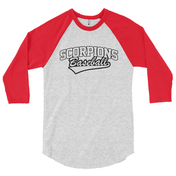 Image of Scorpions Baseball Red Raglan Shirt