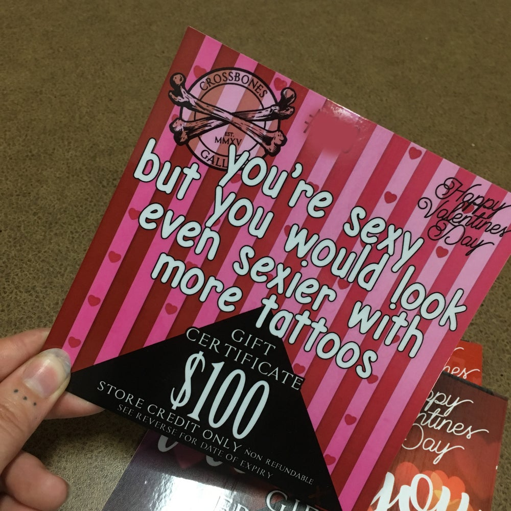 Image of VALENTINES DAY GIFT CARDS