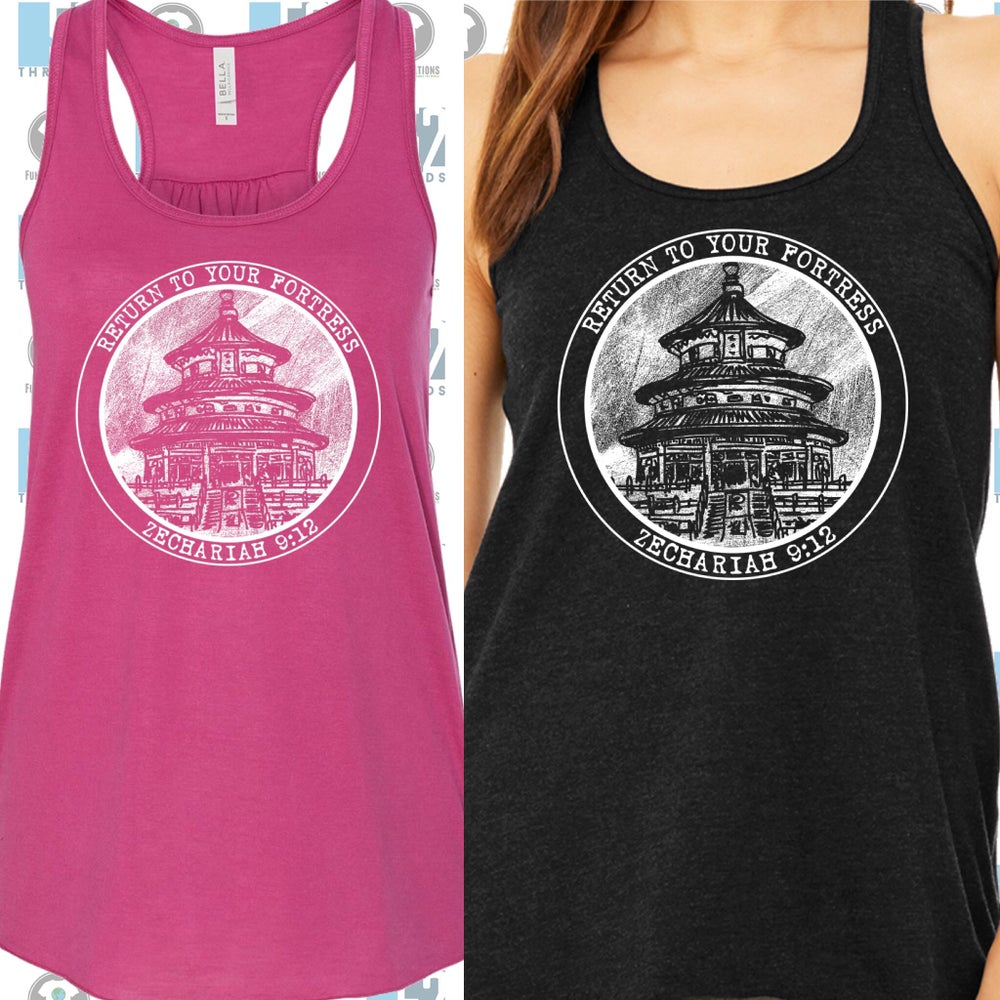 Image of Tank: Heathered Black or Berry