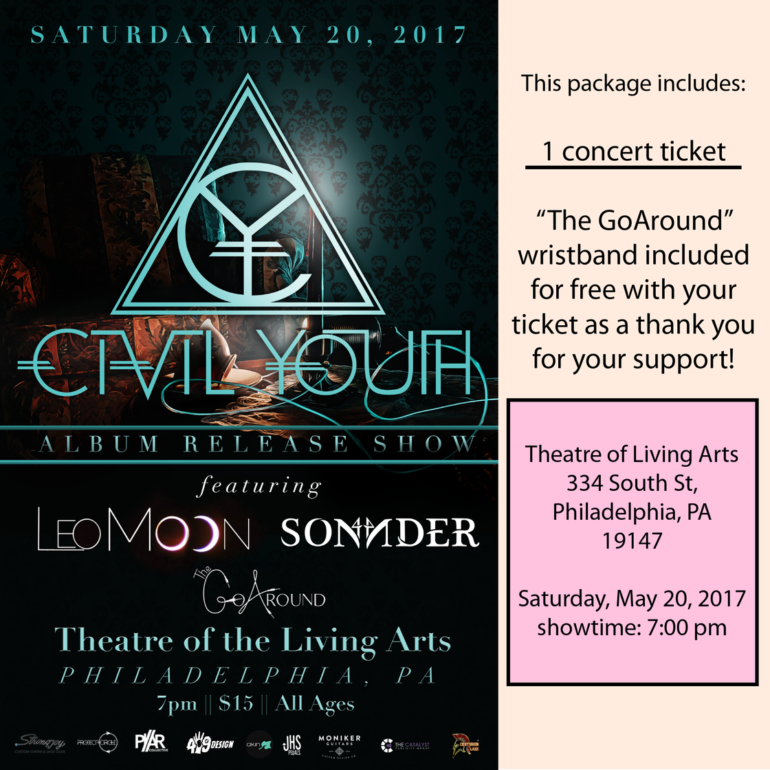 Image of TLA Tickets (5/20/2017)