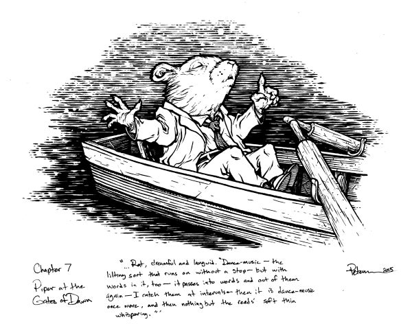 Image of Wind in the Willows pg 99 Original Art