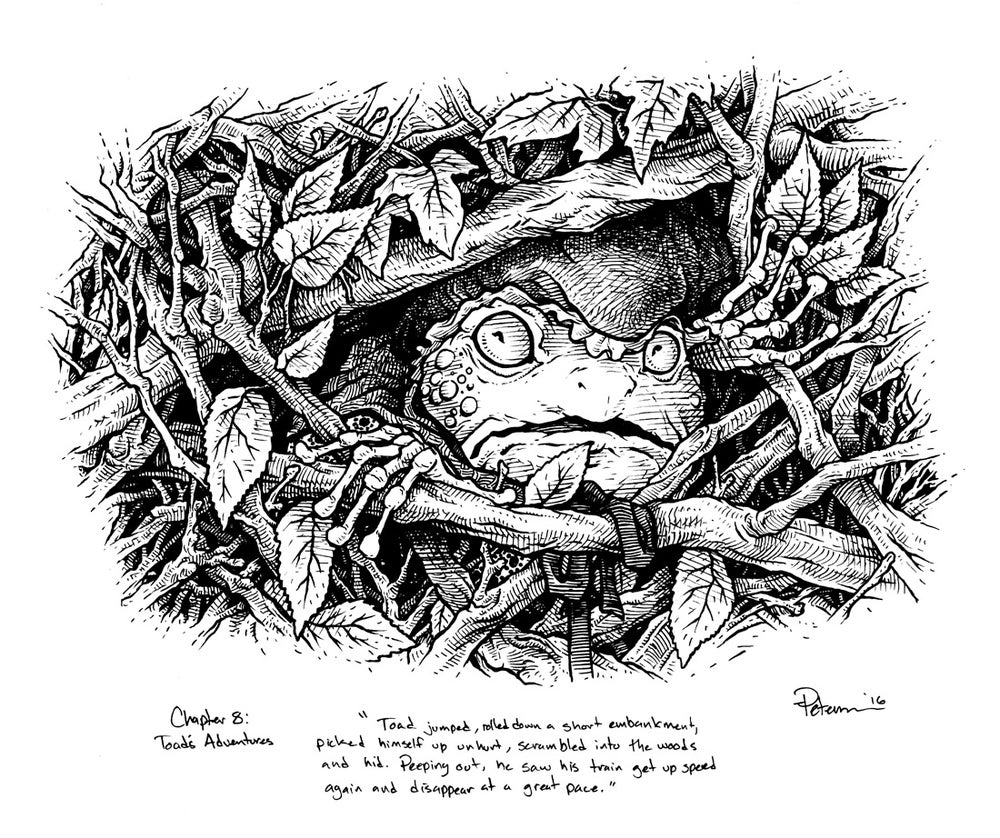 Image of Wind in the Willows pg 113 Original Art