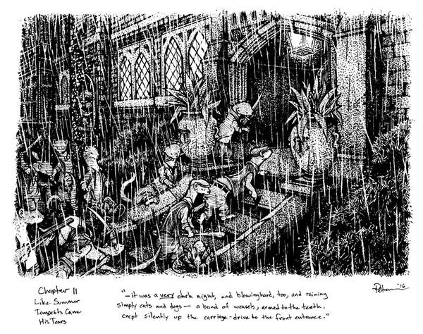 Image of Wind in the Willows pg 154 Original Art