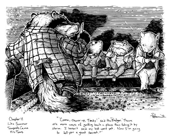 Image of Wind in the Willows pg 163 Original Art