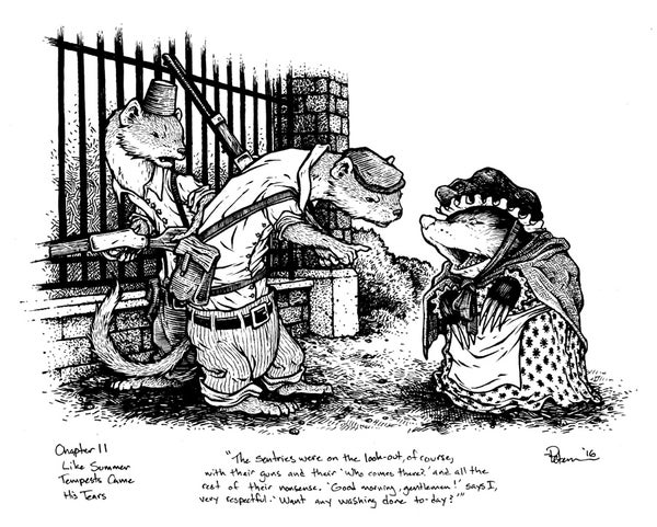 Image of Wind in the Willows pg 165 Original Art