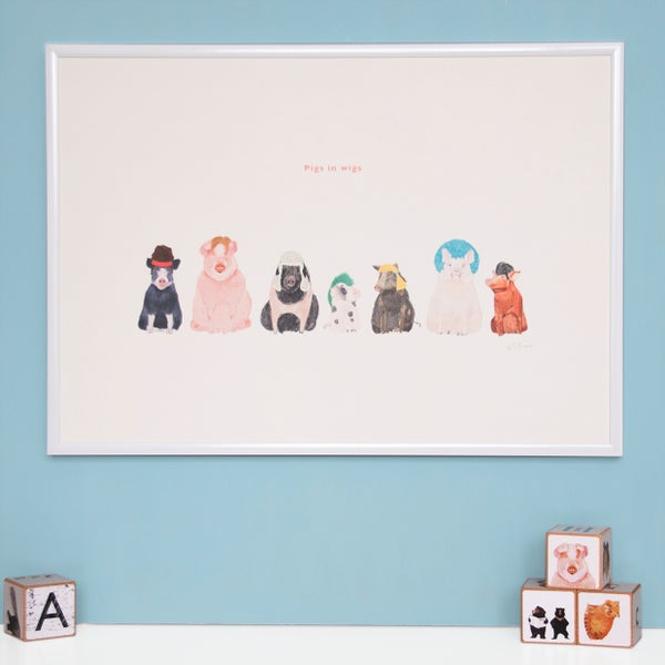 Image of Pigs in Wigs Print