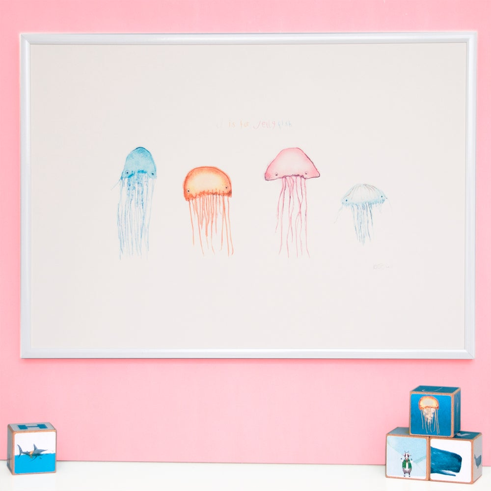 Image of J is for Jellyfish  Print