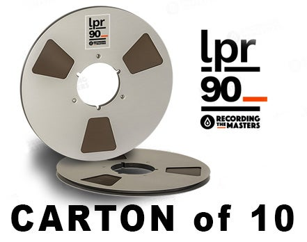 "Image of CARTON of LPR90 1/4"" X3600' 10.5"" Metal Reel Hinged Box"