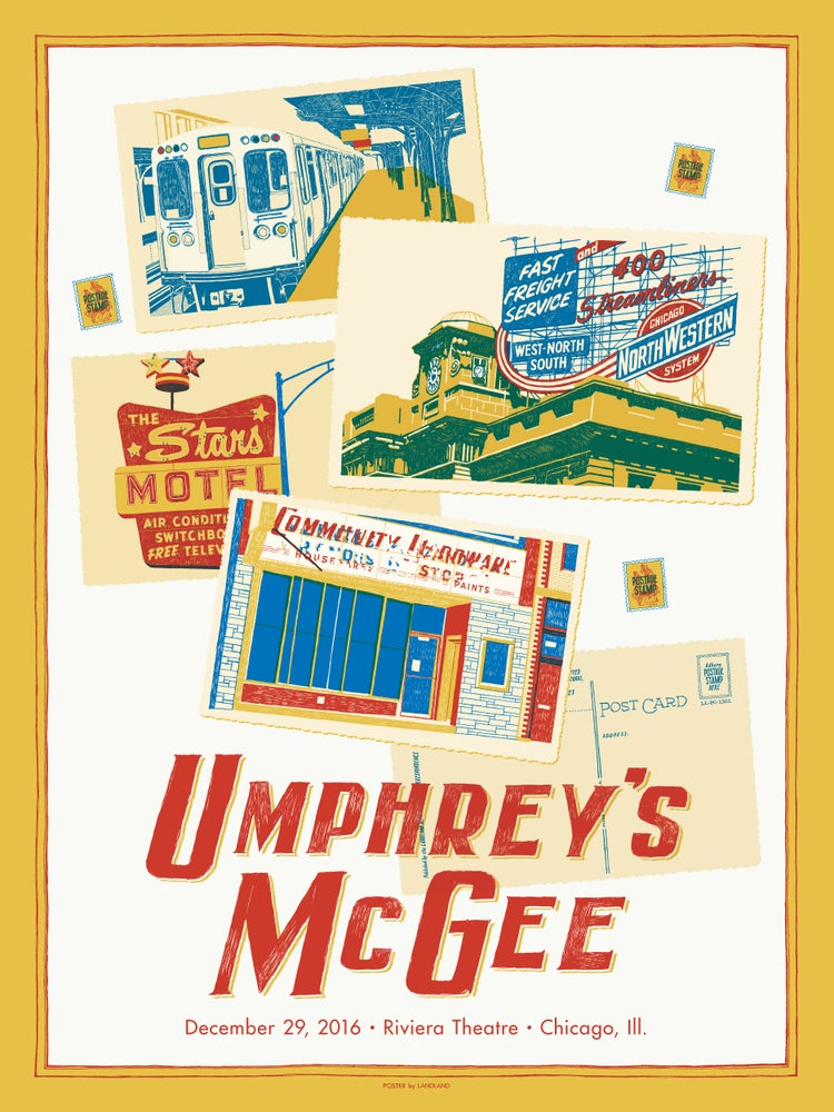 "Image of Umphrey's McGee (New Years-ish, Chicago, Ill.) • Limited Edition Official Poster (18"" x 24"")"