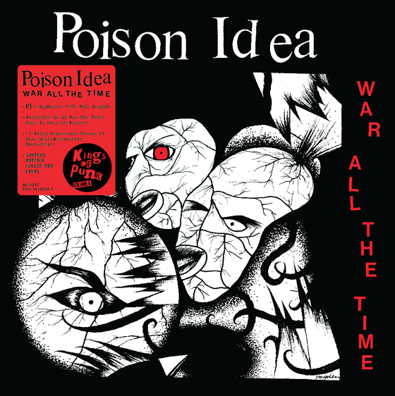 Image of POISON IDEA-War All The Time (REMASTERED) 2019 NEW PRESSING with different photo!