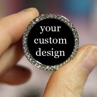"""Image of Custom Design in Gem Tunnels (sizes 0g-2"""")"""