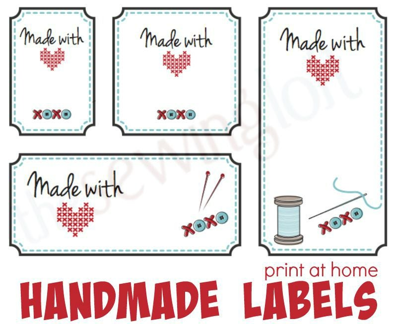 Image of Made with Love Labels