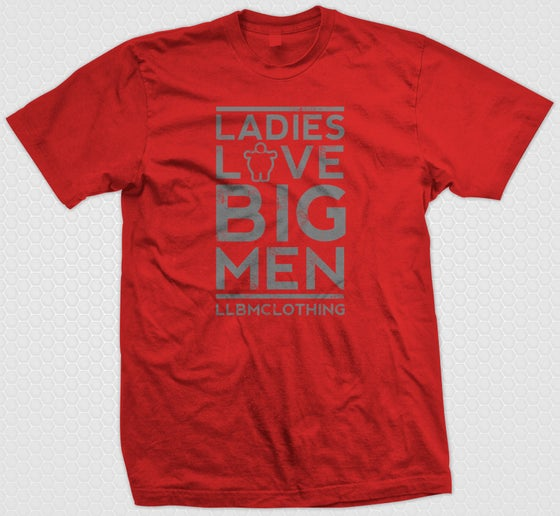 Image of LARGE LOVE BIG MEN RED/GREY