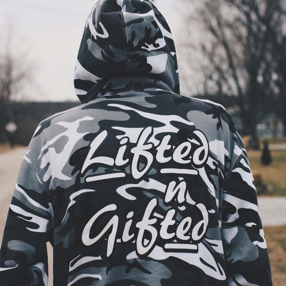 Image of Lifted n Gifted Camo Hoodie
