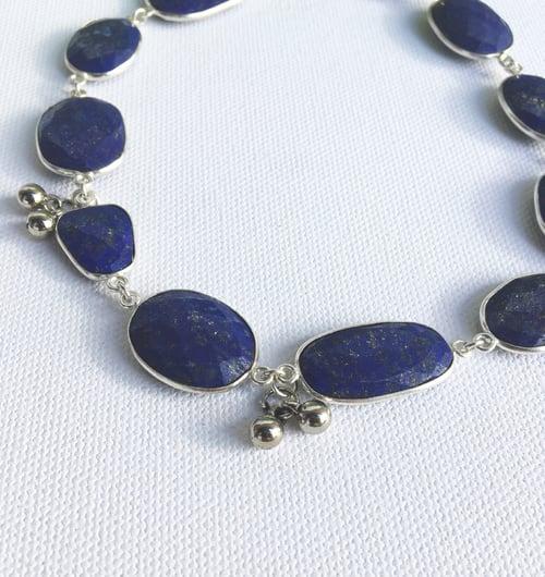 Image of COSMIC JOURNEY • Silver • Lapis Lazuli Choker