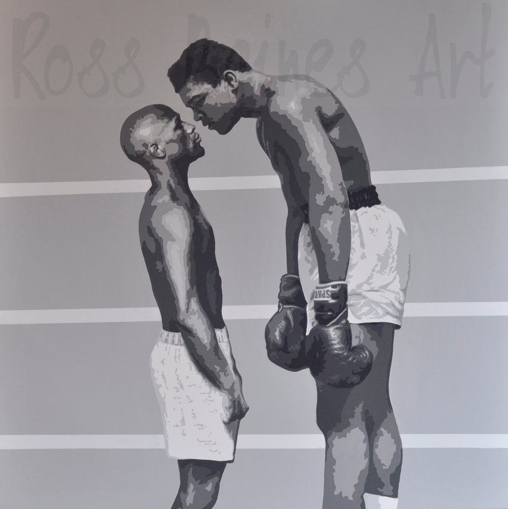 Image of 'THE PRETTY BOY vs THE GREATEST' (canvas print)