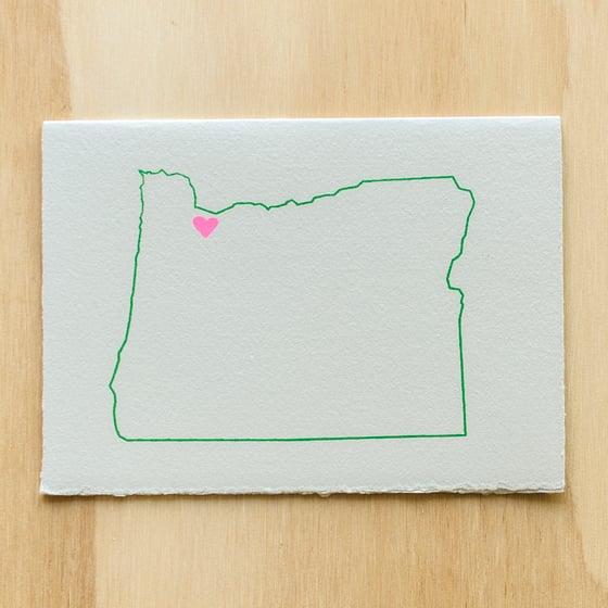 Image of Oregon Map