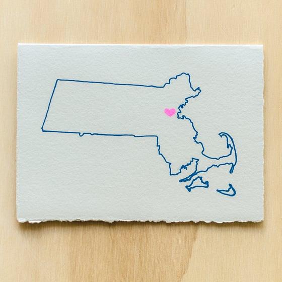 Image of Massachusetts Map