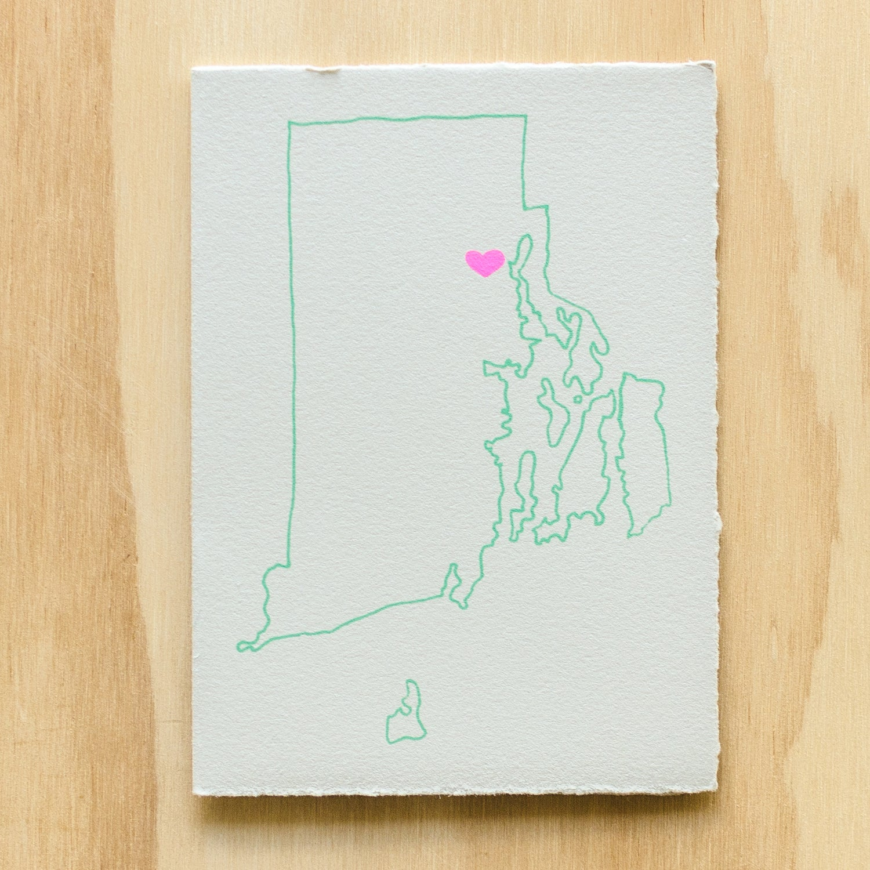 Image of Rhode Island Map