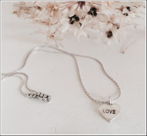"Image of "" LOVE"" Heart Necklace"