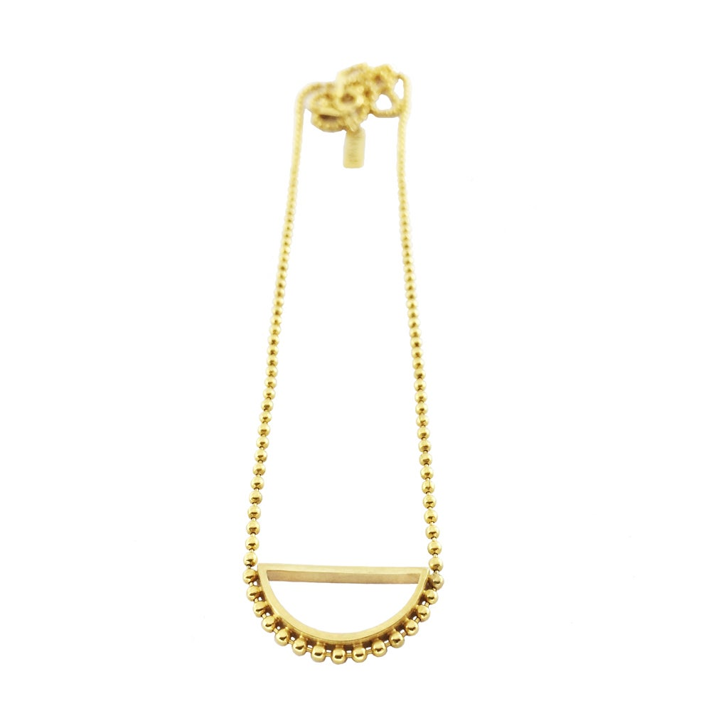 Image of Gold semi circle necklace