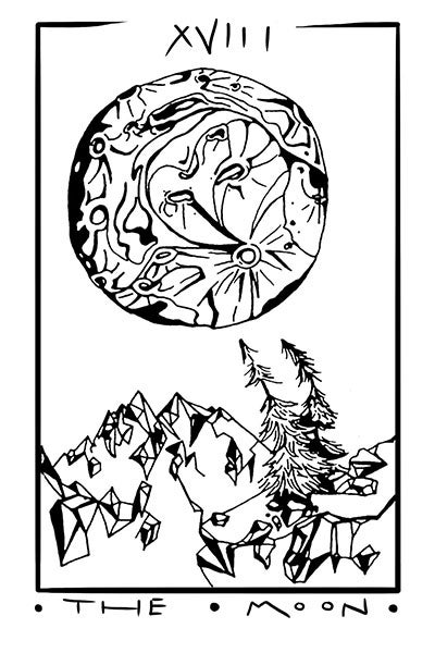 Image of The Moon- Tarot Greeting Card