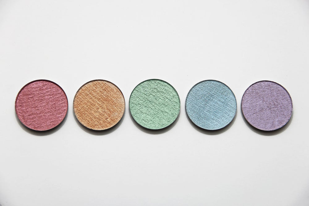 Image of Colored Glitter Free Pressed Highlighters