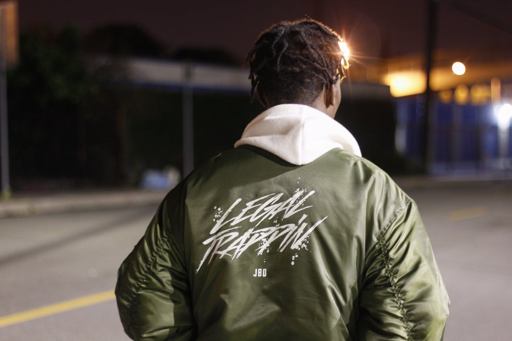 Image of Olive Green LegalTrappin Bomber