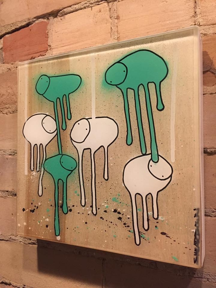 "Image of Raining Cows, ""RAINFOREST"" 10""X10"""