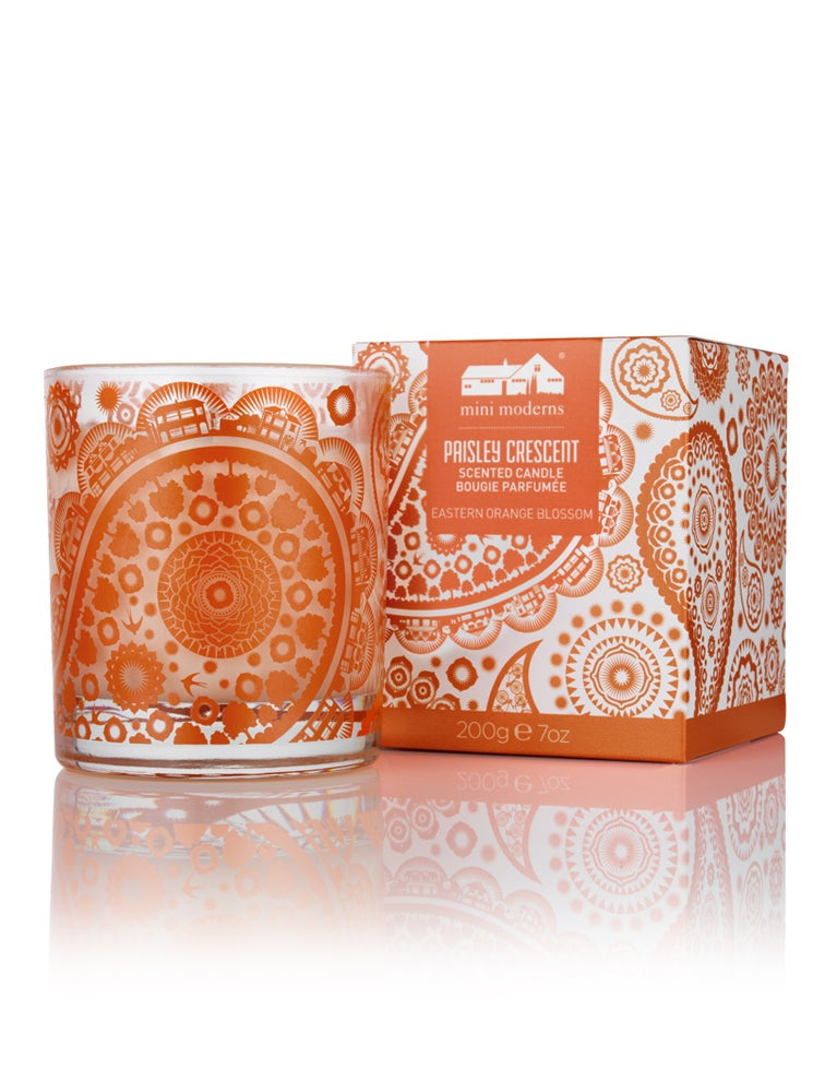 Image of Paisley Crescent Candle - Eastern Orange Blossom