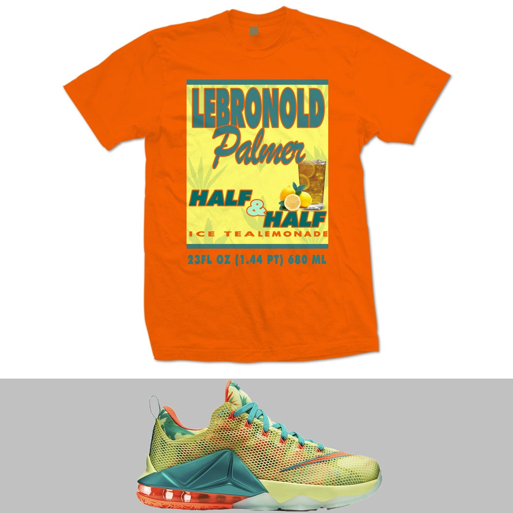 Image of LEBRONOLD PALMER LEBRON 12 LOW T SHIRT - ORANGE