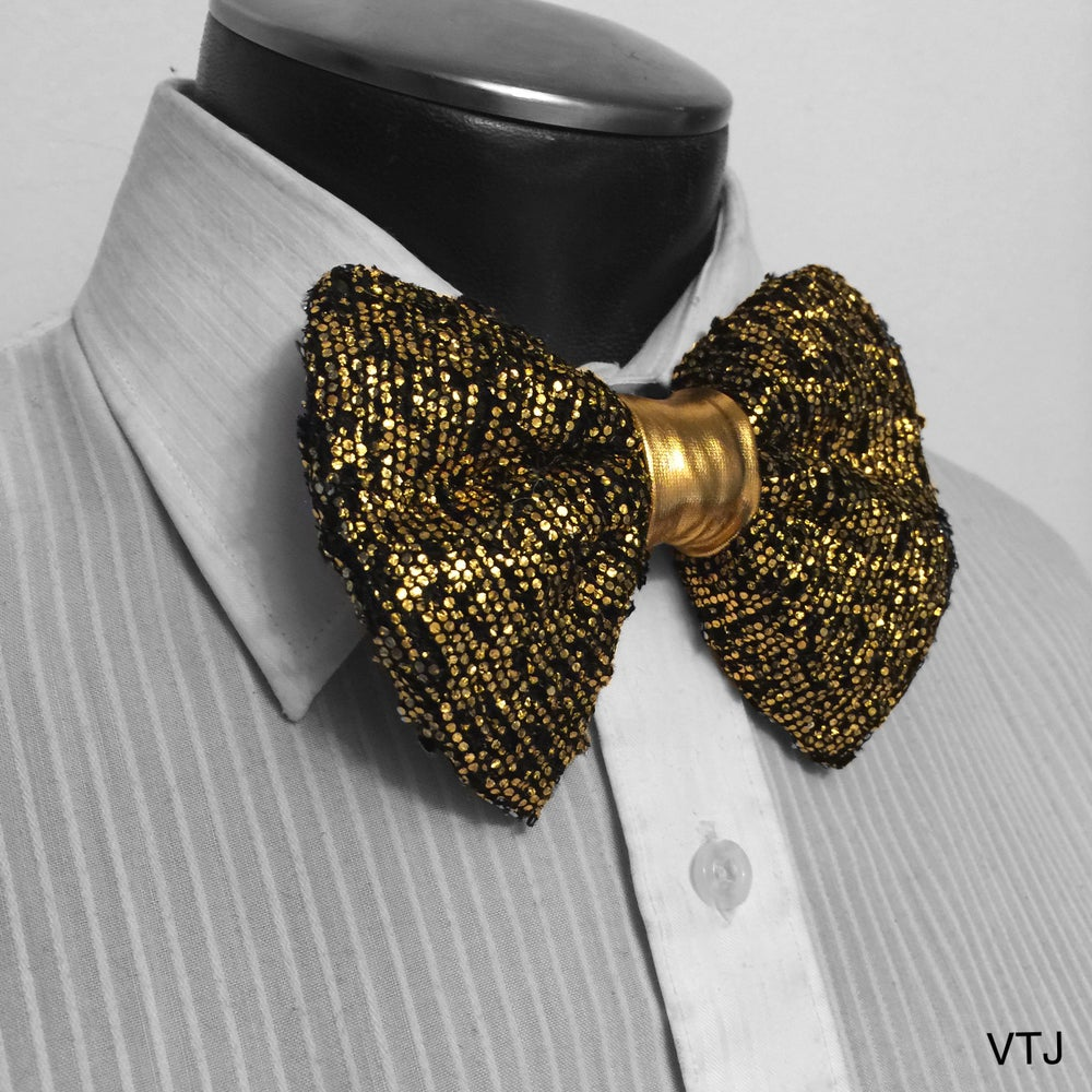 Image of Encrusted Gold Bowtie