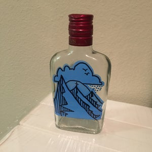 Image of Medium Flask - Blue Mountain