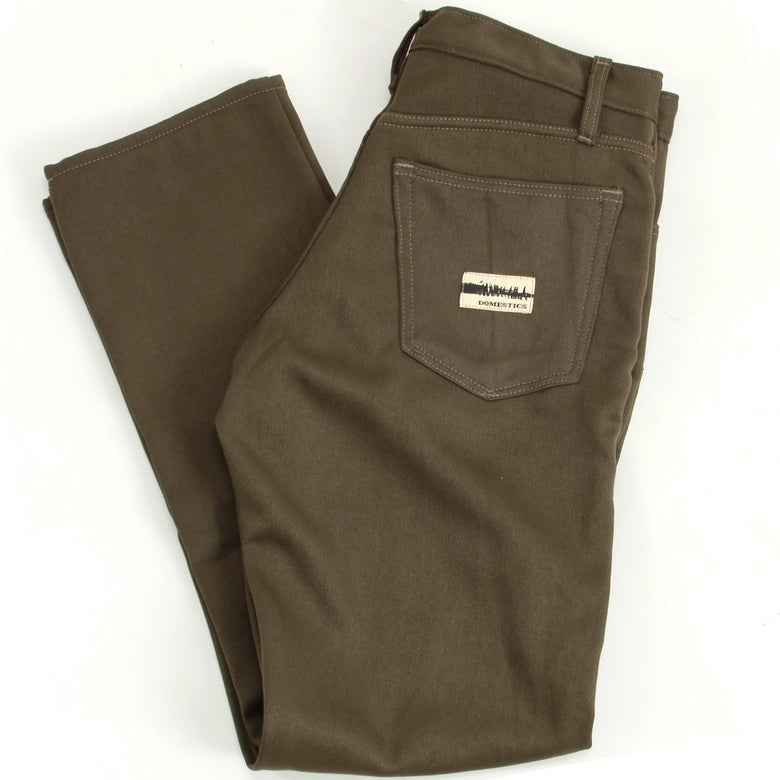Image of MADE IN USA DOMEstics. Brown Super Fleece Pants