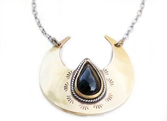 Image of Onyx Crescent Pendant