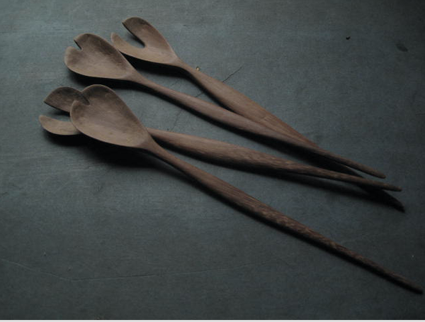 "Image of GAIL'S SALAD SERVERS - 26CMS (10.25"")"
