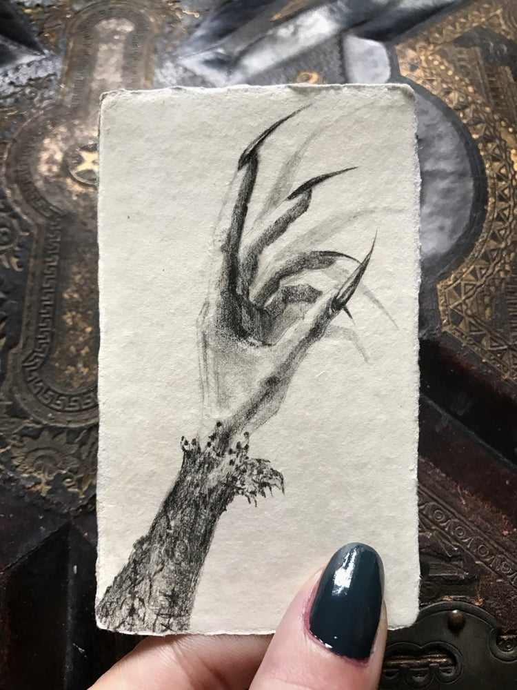 Image of Miniature portrait of the artist's hand