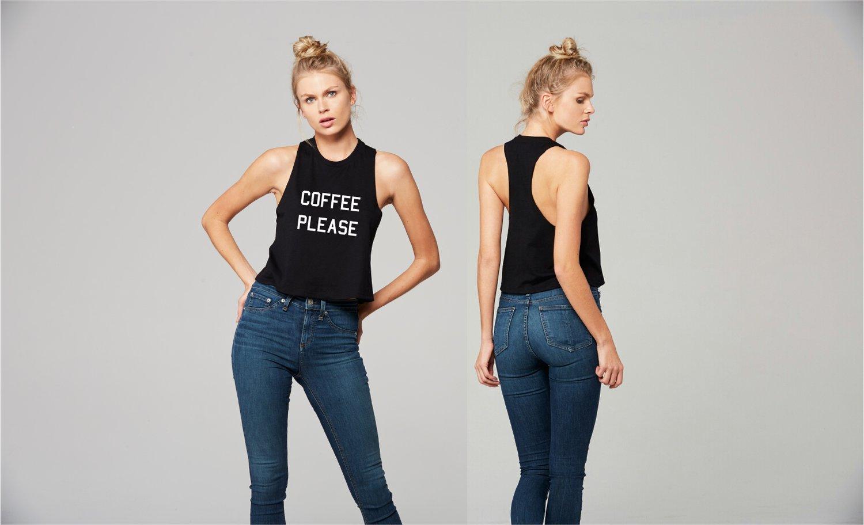 Image of Coffee Please - RZR crop tank