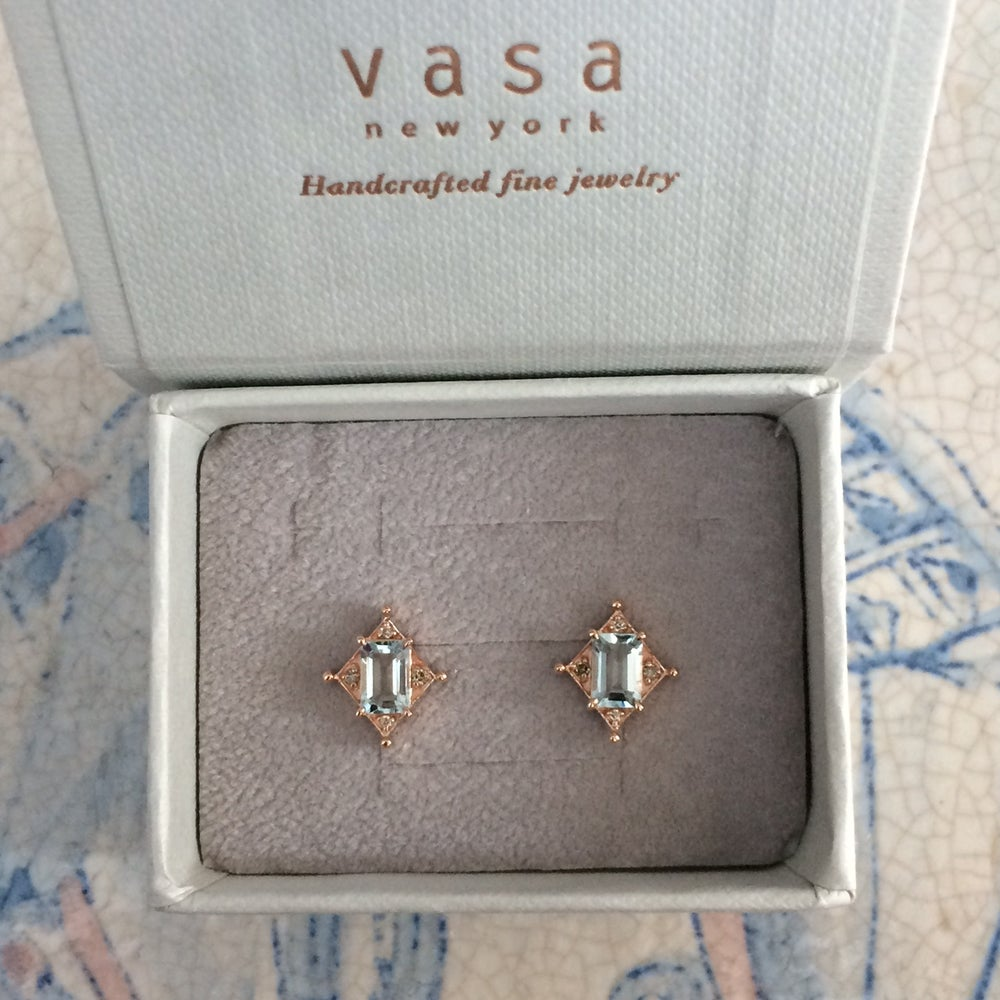 Image of Art Deco Aquamarine Earring